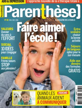 Parenthèse <br> n°65 – Nov./Déc 2018